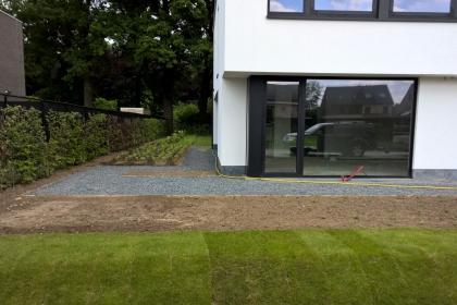 Hout Beton Schutting Moderne Tuinen Foto S